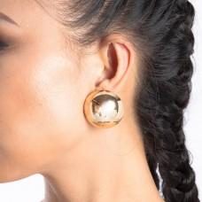 Gold Mega Ball Studded Earrings