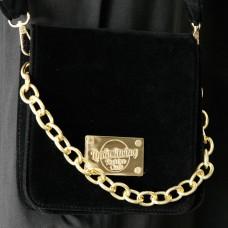 Velvet Ornate Chain Square Bag